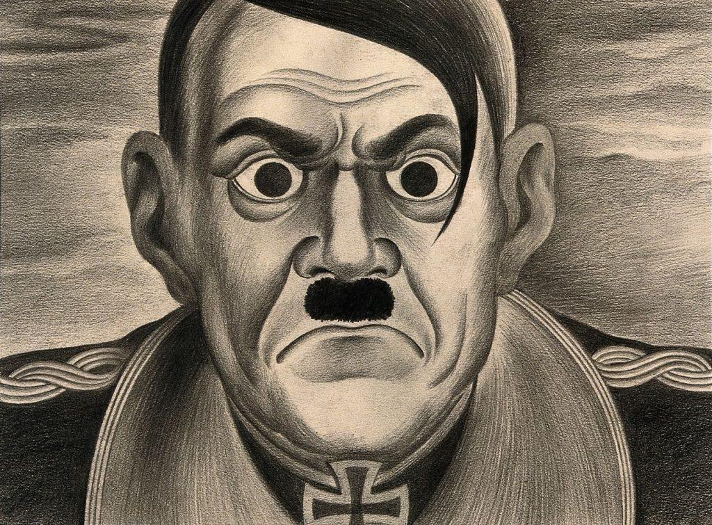 Adolf Hitler na współczesnej karykaturze (A.L. Tarter, CC BY-SA 4.0).