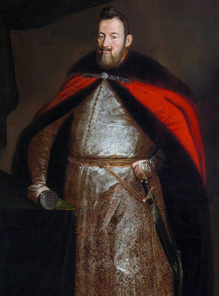 Jerzy Ossoliński  na portrecie pędzla  Peetera Danckersa de Rij (domena publiczna).