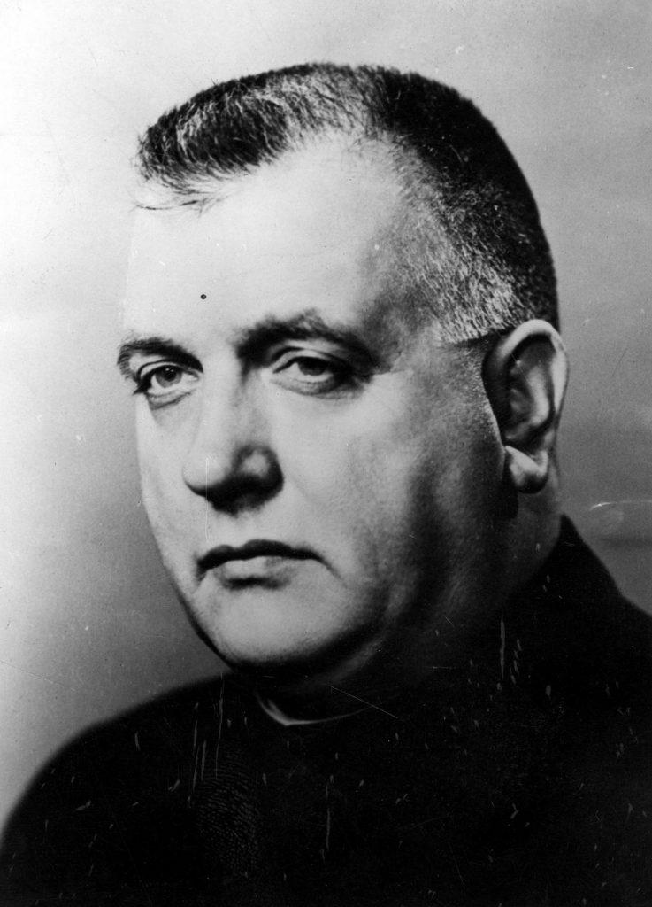 Na czele marionetkowej Słowacji stał ksiądz Josef Tiso (domena publiczna).