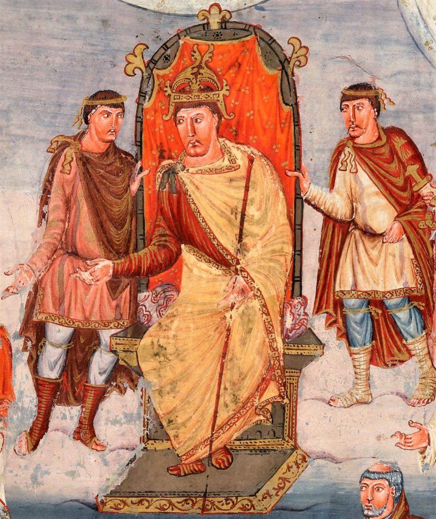 Wyobrażenie Karola II Łysego z połowy IX wieku (domena publiczna).