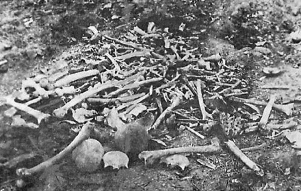 Kości Ormian zamordowanych w Erzingan (Henry Morgenthau/domena publiczna).