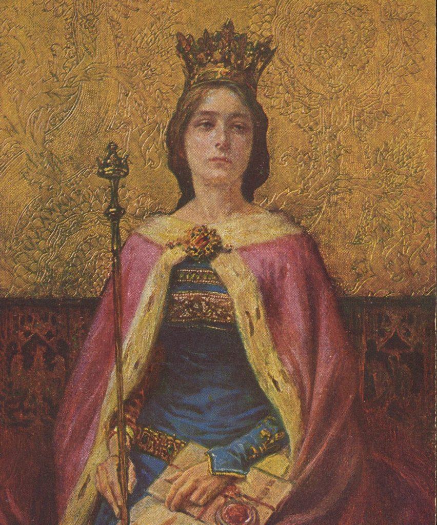 Królowa Jadwiga bardzo lubiła kościelne pieśni (domena publiczna).