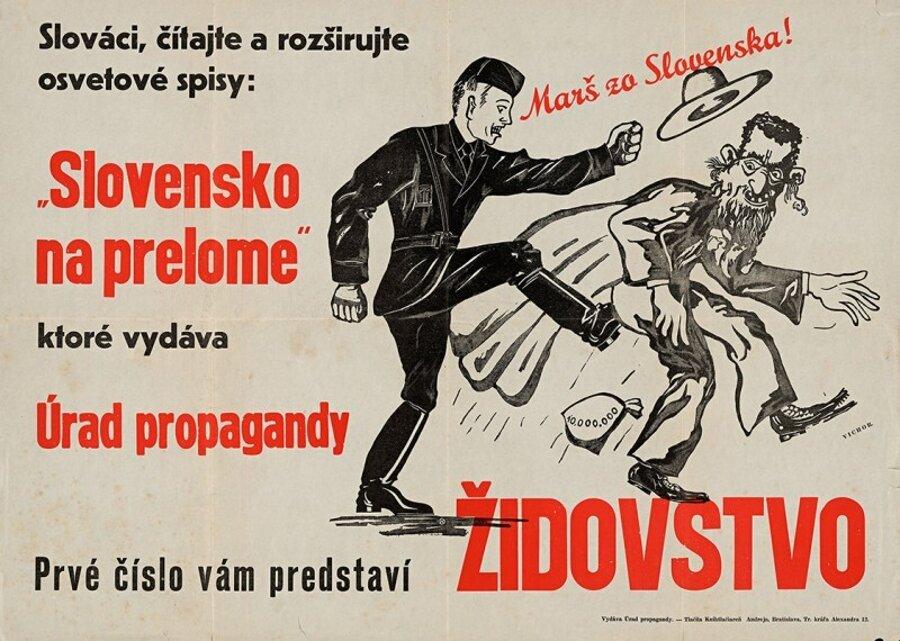 Kolejne miesiące przynosiły na Słowacji eskalację państwowego antysemityzmu (domena publiczna).