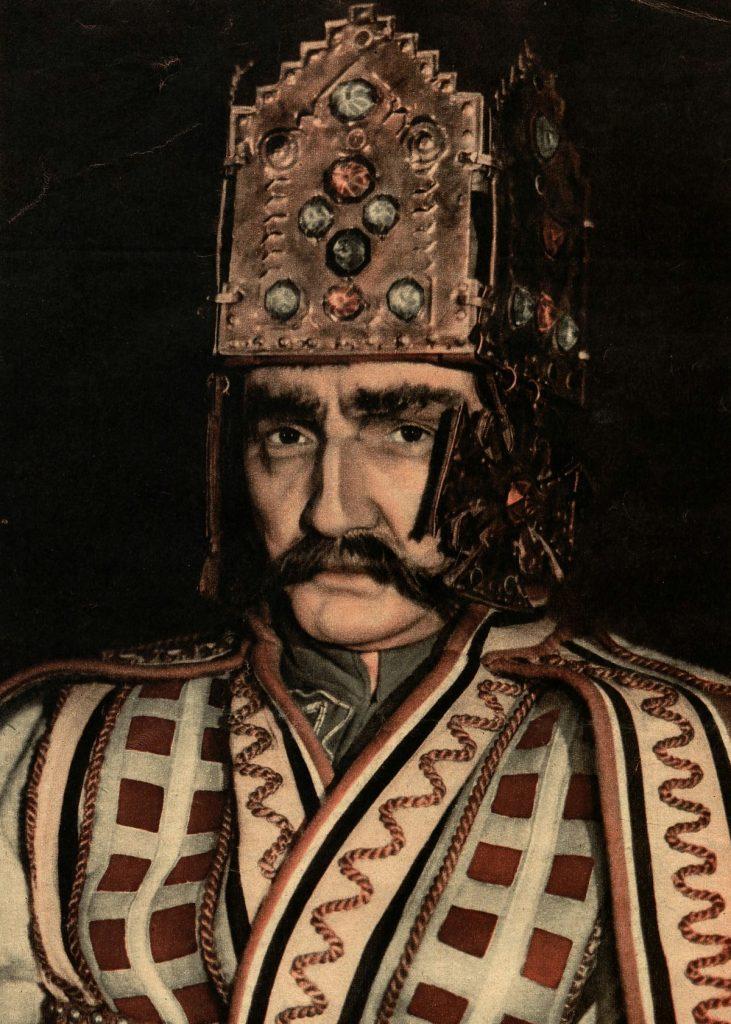 Bolesław Szczodry nie zamierzał pytać kogokolwiek o zgodę na koronację. Na ilustracji Wacław Nowakowski wcielający się w monarchę (domena publiczna).