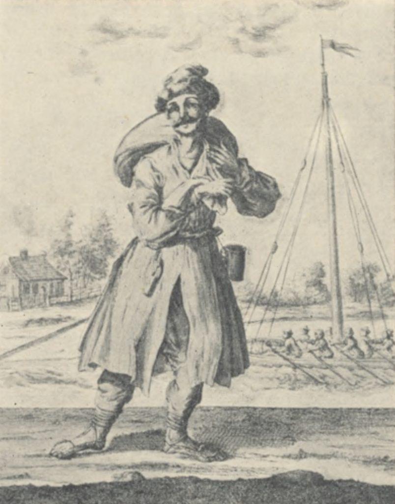 XVIII-wieczny polski chłop według Matthaeusa Deischa (domena publiczna).
