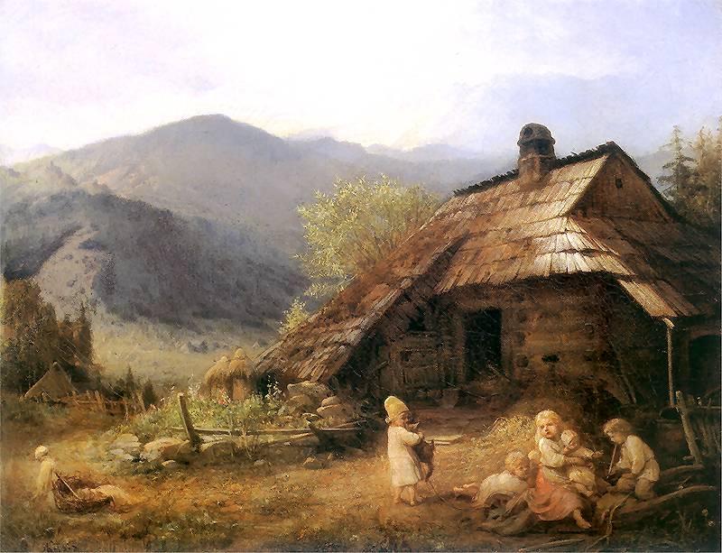 Coxe był zaskoczony tym, jak nędznie żyli polscy chłopi (Aleksander Kotsis/domena publiczna).