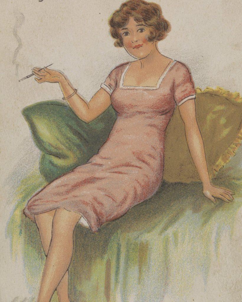 Przedwojenna prasa twierdziła, że każda kobieta może przeistoczyć się w diaboliczną femme fatale (domena publiczna).
