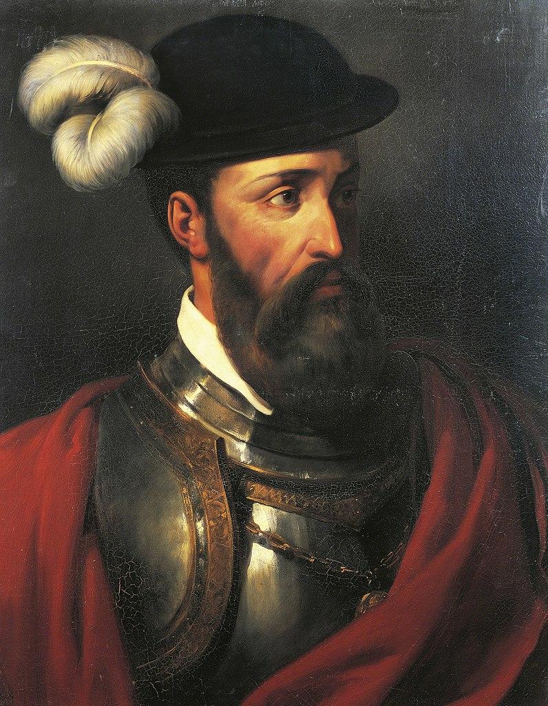 XIX-wieczny portret Francisco Pizarro pędzla Amable-Paula Coutana (domena publiczna).