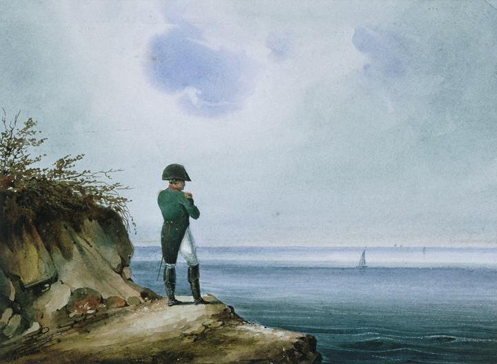 Napoleon na Wyspie Św. Heleny miał dużo czasu do rozmyślań. Również o kobietach (František Xaver Sandmann/domena publiczna).