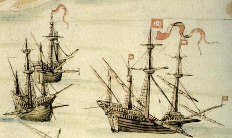 Takich okrętów używali Portugalczycy w pierwszej połowie XVI wieku (D. João de Castro/domena publiczna).