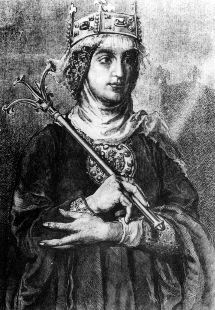 W 1025 roku Rycheza została koronowana na pierwszą polską królową (domena publiczna).