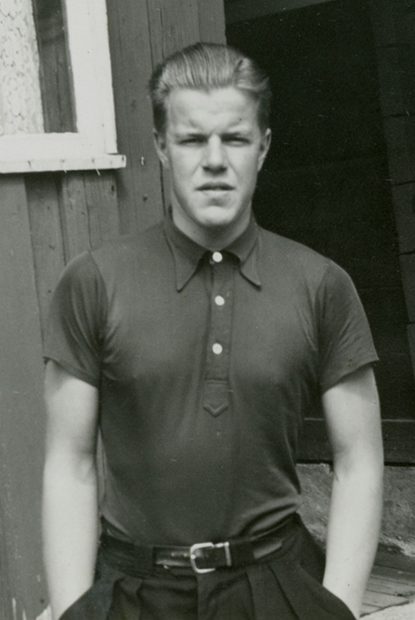 Asbjørn Ruud na zdjęciu z lat 40. (domena publiczna).
