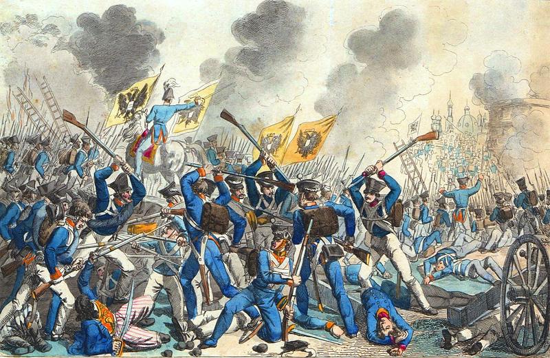 Do Królestwa Polskiego cholerę przywlekli Rosjanie tłumiący powstanie listopadowe (domena publiczna).