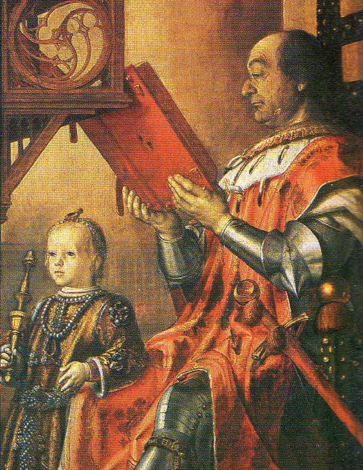 Federigo da Montefeltro z synem (Pedro Berruguete/domena publiczna).