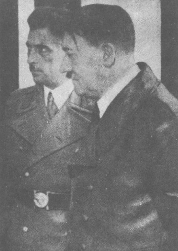 Franz Kutschera i Adolf Hitler na zdjęci zrobionym w 1941 roku (domena publiczna).