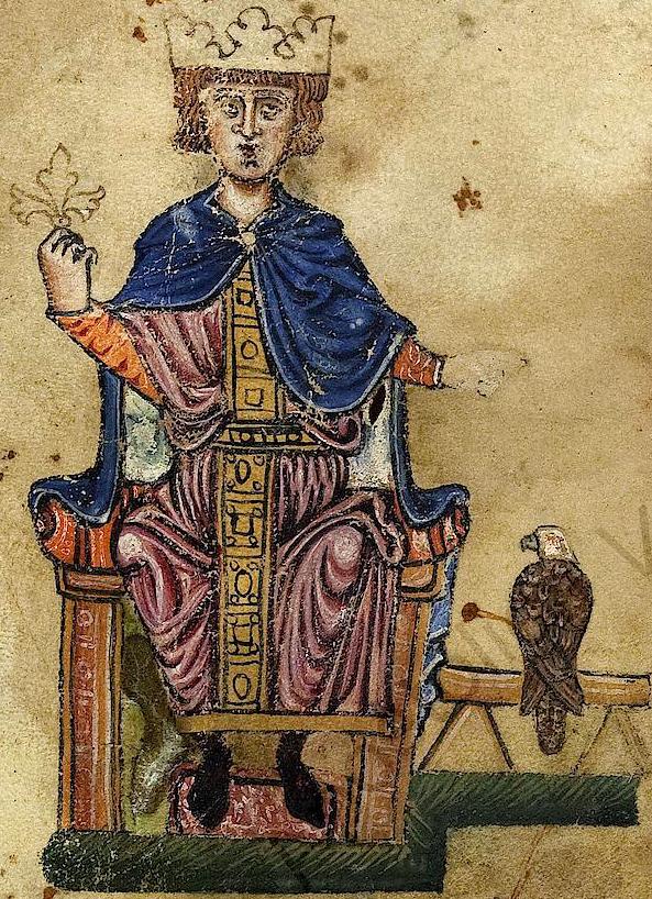 Po przegranej rebelii przeciw ojcu, życie odebrał sobie syn cesarza Fryderyka II Hohenstaufa (domena publiczna).