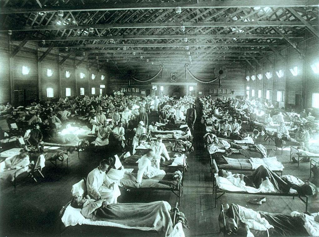 Na całym świecie na hiszpankę zmarło od 25 do nawet 100 milionów ludzi (CC BY 2.5).