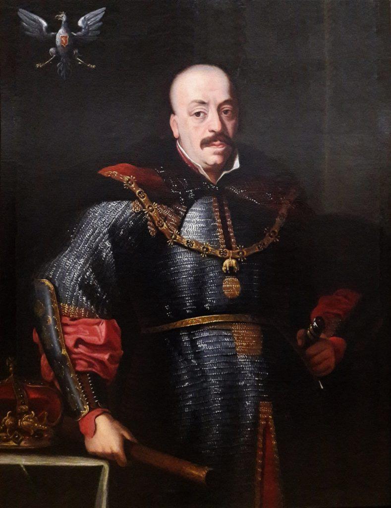 Jan Kazimierz Waza. Portret pędzla Giovanniego Francesca Rossiego.