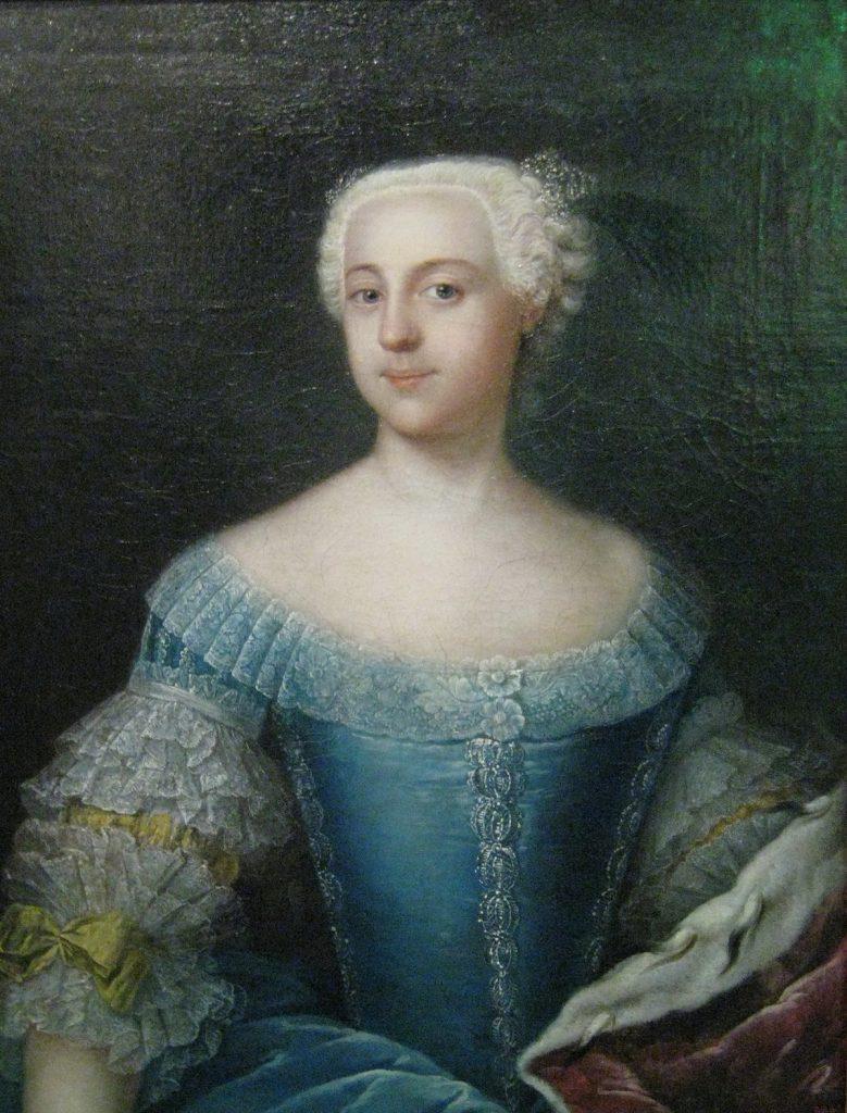 Katarzyna, a właściwie Zofia na portrecie z 1742 roku (Anna Rosina de Gasc/domena publiczna).