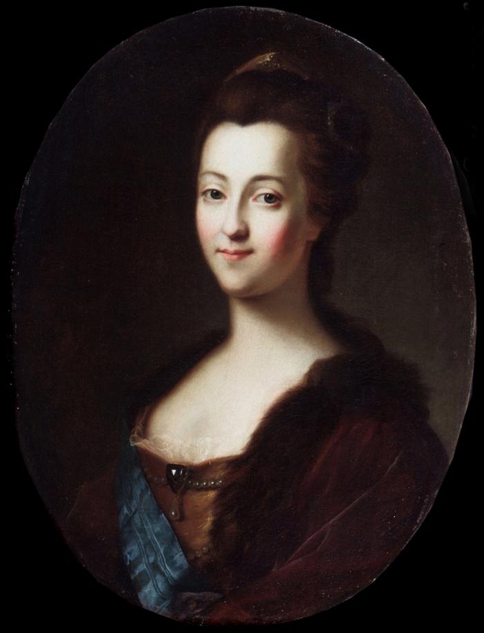 Pierwszym kandydatem na męża dla Zofii był jej wujek. Na ilustracji portret Katarzyny/Zofii z lat 40. XVIII wieku,