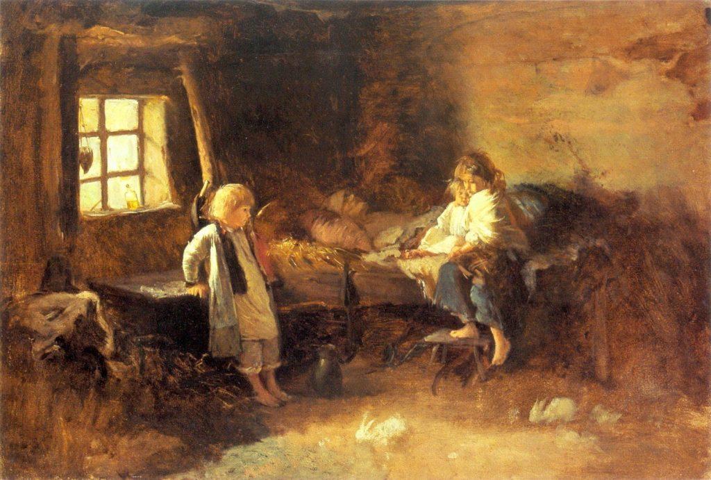 Zdesperowani chłopi wypędzali z domów własne dzieci (Aleksander Kotsis/domena publiczna).