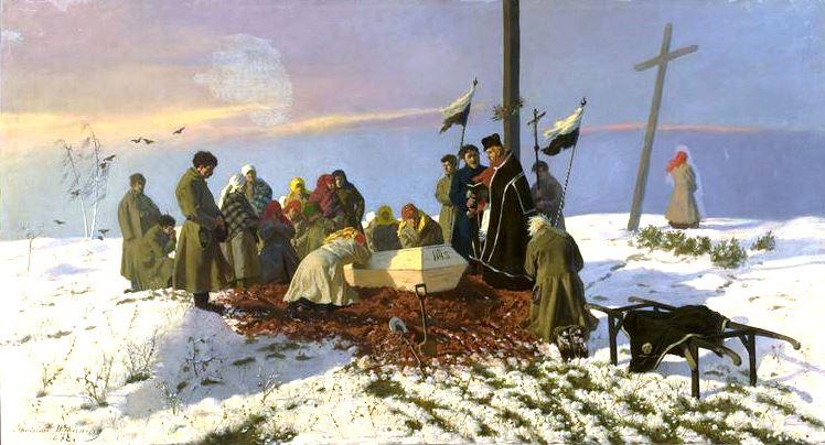 Głód i zaraza zabiły w latach 1847-1849 ponad 400 tysięcy Galicjan (Stanisław Witkiewicz/domena publiczna).