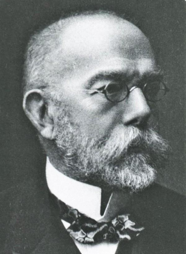 Robert Koch. To on odkrył bakterię, która powoduje cholerę (domena publiczna).