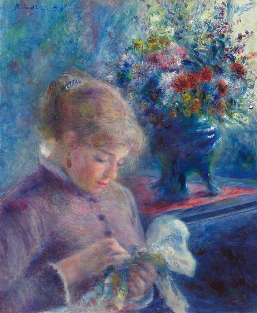 Umiejętność szycia była niezwykle ważna dla XIX-wiecznych dziewcząt (Auguste Renoir/domena publiczna).