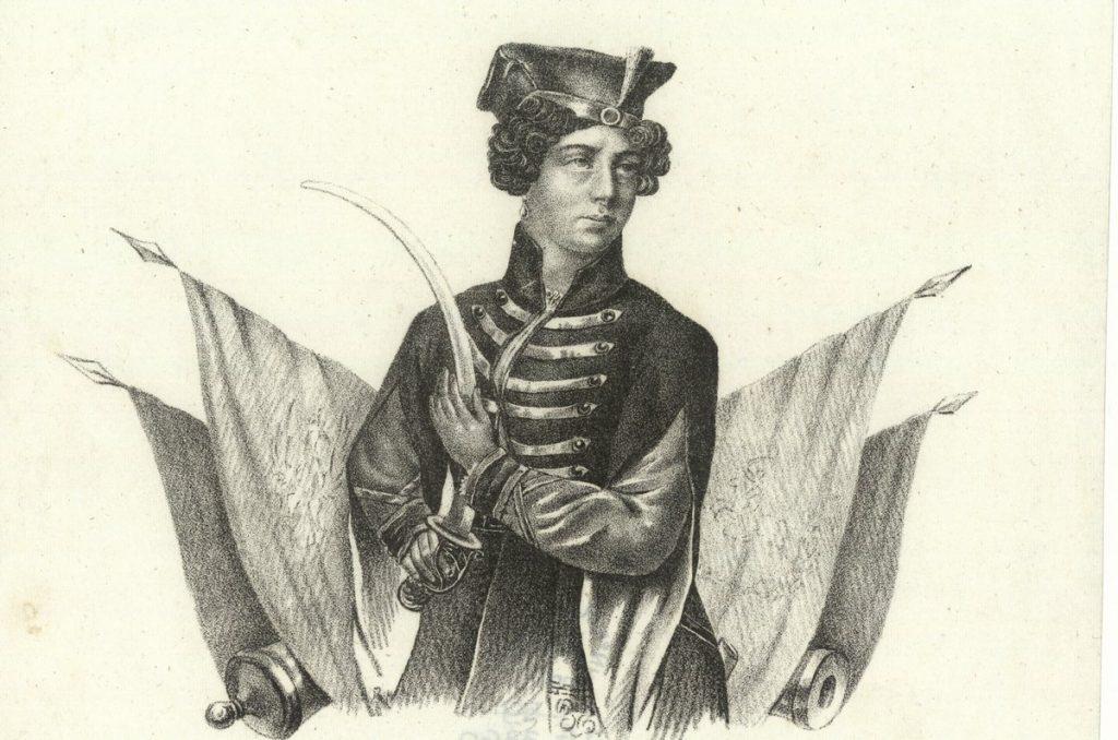 Portret Emilii Plater z lat 30. XIX wieku (domena publiczna).