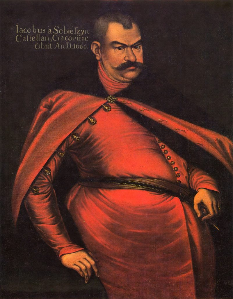 Ojciec przyszłego króla, Jakub Sobieski (domena publiczna).