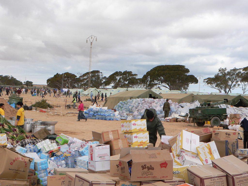 Jeden z obozów dla libijskich uchodźców w Tunezji (Mohamed Ali MHENNI/CC BY-SA 4.0).