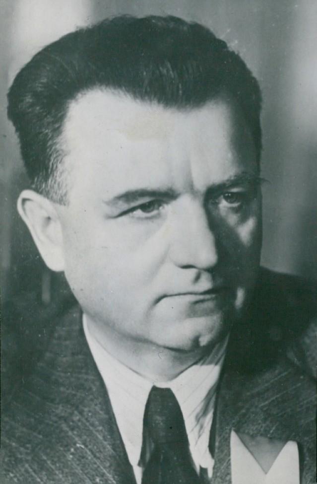 Klement Gottwald zastraszał Beneša wizją strajku generalnego i radzieckiej interwencji (domena publiczna).