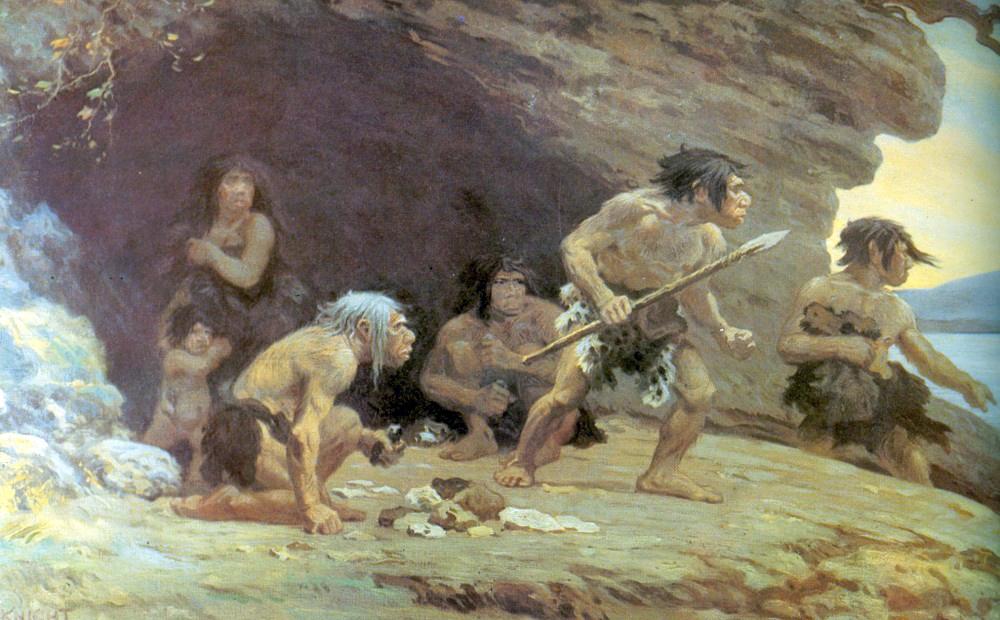 Wśród neandertalczyków też byli rudowłosi, ale za kolor ich czupryn odpowiadał inny gen niż u nas (Charles R. Knight/domena publiczna).