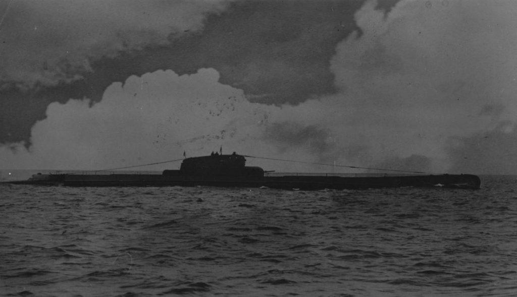 """11 października """"Orzeł"""" wreszcie wyszedł na otwarte wody Skagerraku (domena publiczna)."""