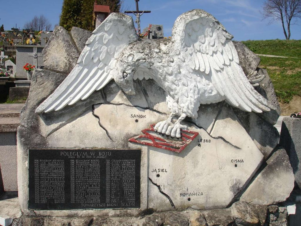 Pomnik żołnierzy WOP poległych w walkach z UPA w Jasielu (Efka de/CC BY 2.5).