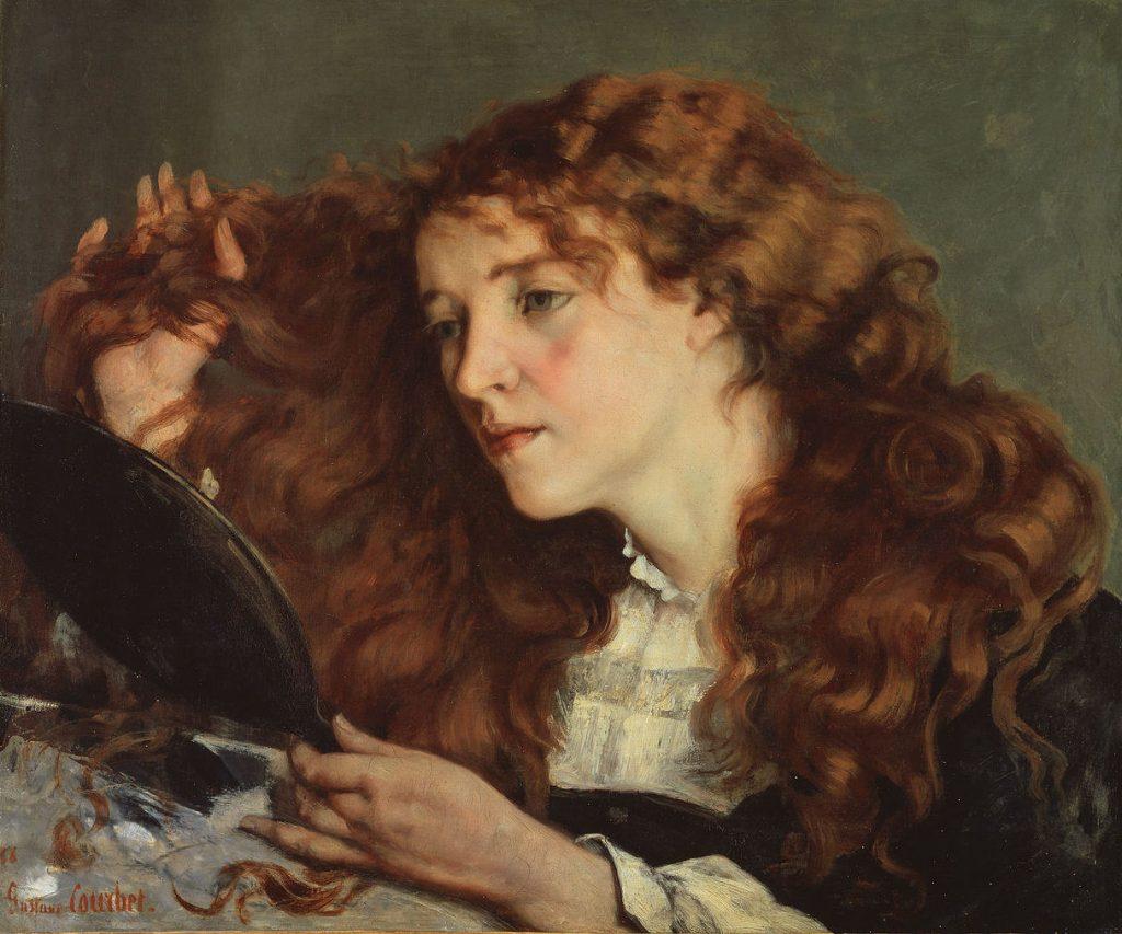 Rudowłosa irlandzka dziewczyna na obrazie Gustave'a Courbeta (domena publiczna).