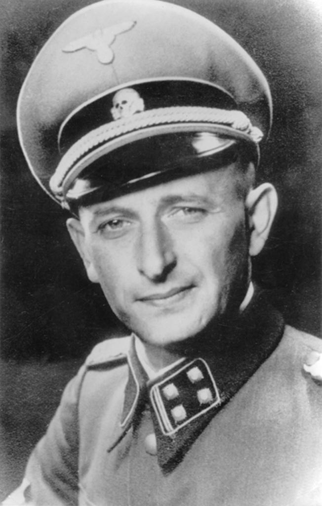 Architekt zagłady europejskich Żydów Adolf Eichmann (domena publiczna).