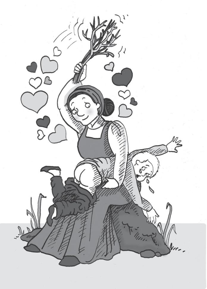 Dawni Islandczycy uważali, że biją dzieci dla ich dobra. Ilustracja z książki Mała księga dawnych Islandczyków (materiały prasowe).