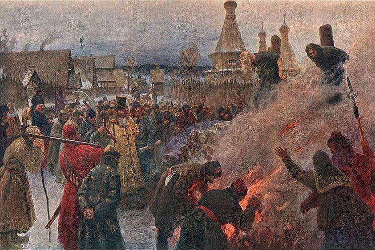 Na stos poza domniemanymi czarownicami trafiali również podpalacze oraz świętokradcy (Grigorij Miasojedow/domena publiczna).