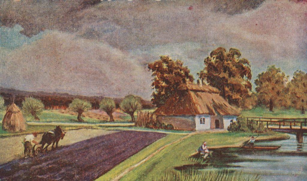 W czasie I wojny światowej obszar upraw zmniejszył się nawet o ponad 80% (domena publiczna).