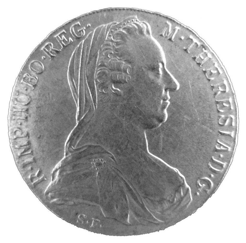 Talar Marii Teresy, to właśnie takie monety fałszował Mussolini (Frank C. Müller/CC BY-SA 3.0).