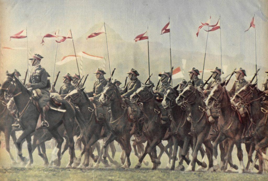 Niektóre kawaleryjskie konie miały nawet nieoficjalne stopnie wojskowe. Zdjęcie poglądowe (domena publiczna).