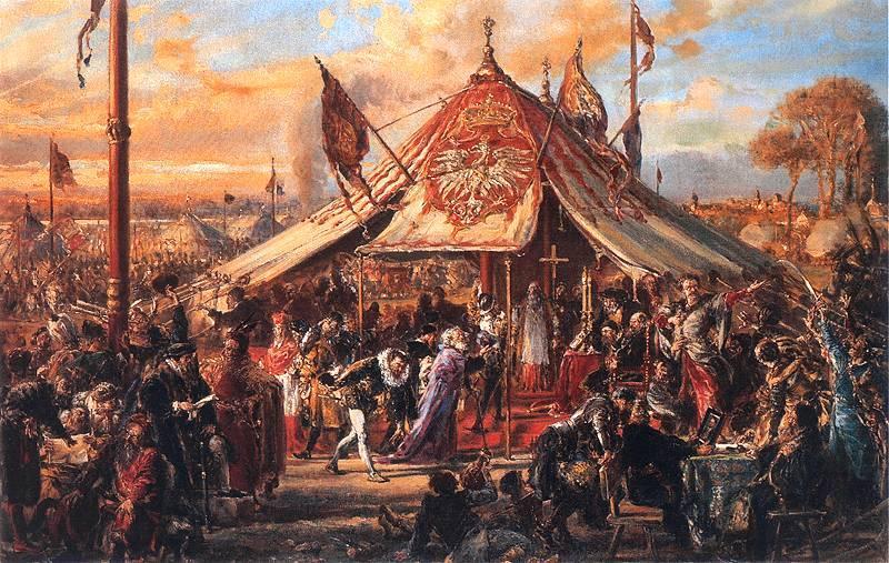 Sejm elekcyjny z 1573 roku na obrazie Jana Matejki (domena publiczna).