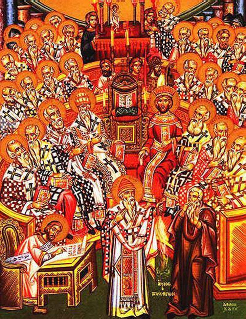 Spotkanie, które odbyło się w lipcu 325 roku w Nicei zostało po fakcie uznane za pierwszy sobór powszechny w dziejach Kościoła (domena publiczna).