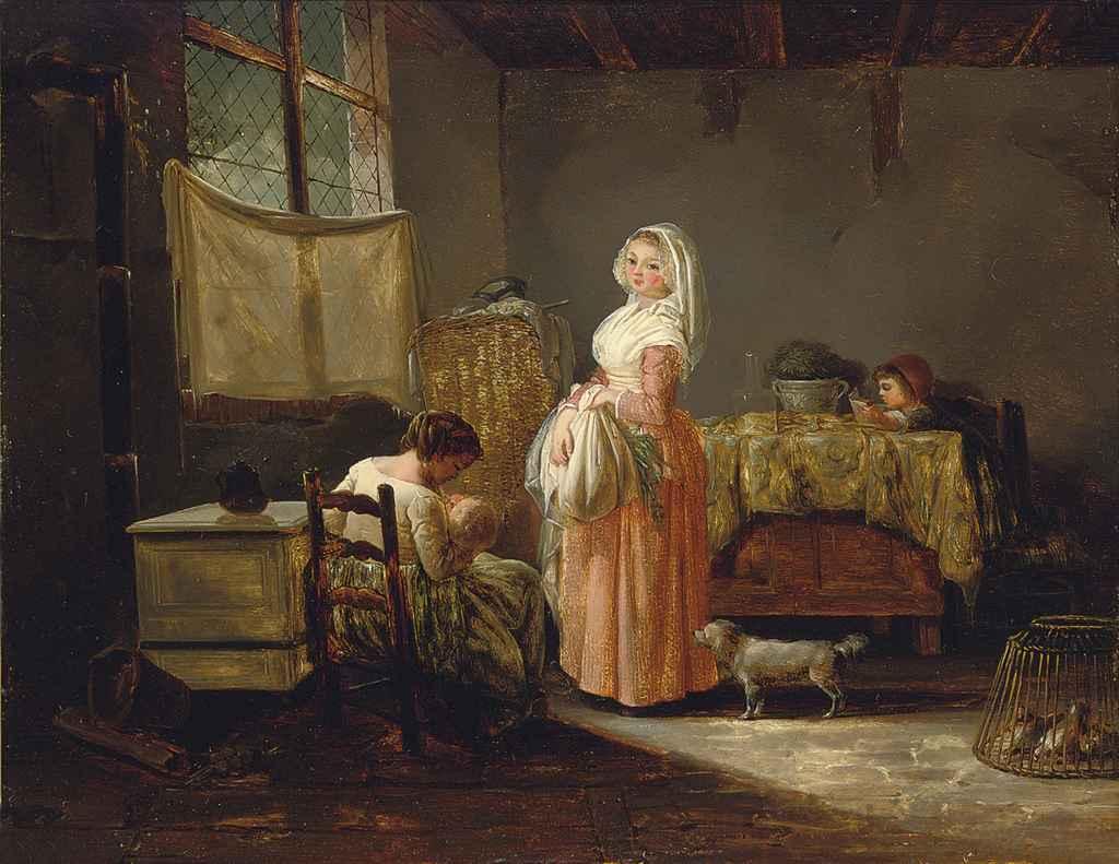 Przeciętna warszawianka rodziła znacznie więcej dzieci niż statystyczna Francuzka (Louis-Marc-Antoine Bilcoq/domena publiczna).