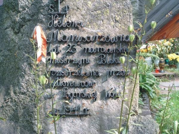 Nagrobek Heleny Marusarzówny na Pęksowym Brzyzku (Jadwiga/CC BY-SA3.0).