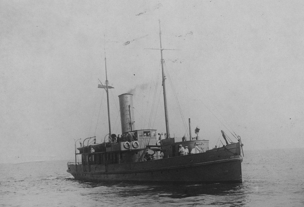 ORP Pomorzanin. Pierwszy okręt polskiej Marynarki Wojennej na Bałtyku (domena publiczna).