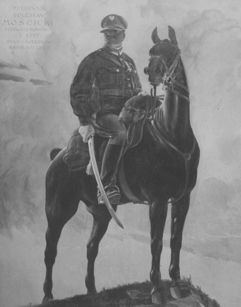 Pułkownik Bolesław Mościcki na grzbiecie Krechowiaka (Wieniecki/NAC).