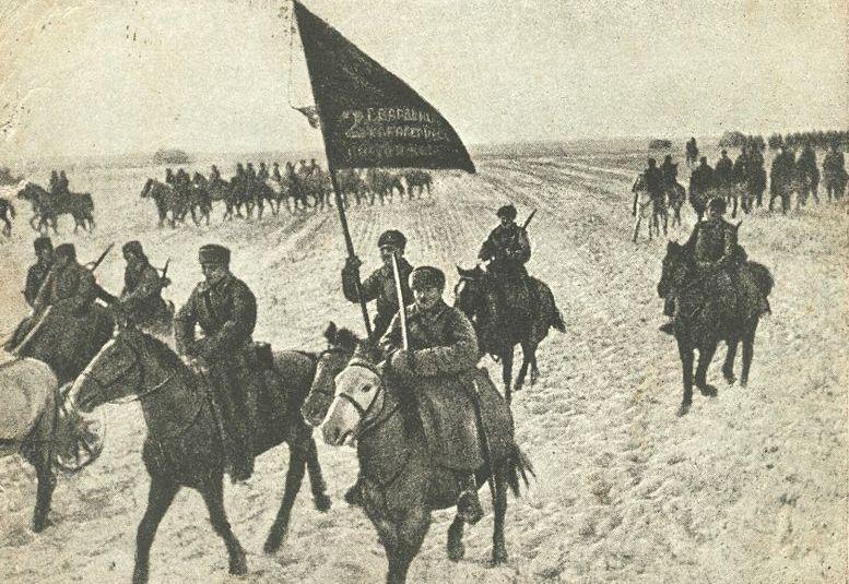 Sowiecka kawaleria na zdjęciu z grudnia 1941 roku (domena publiczna).