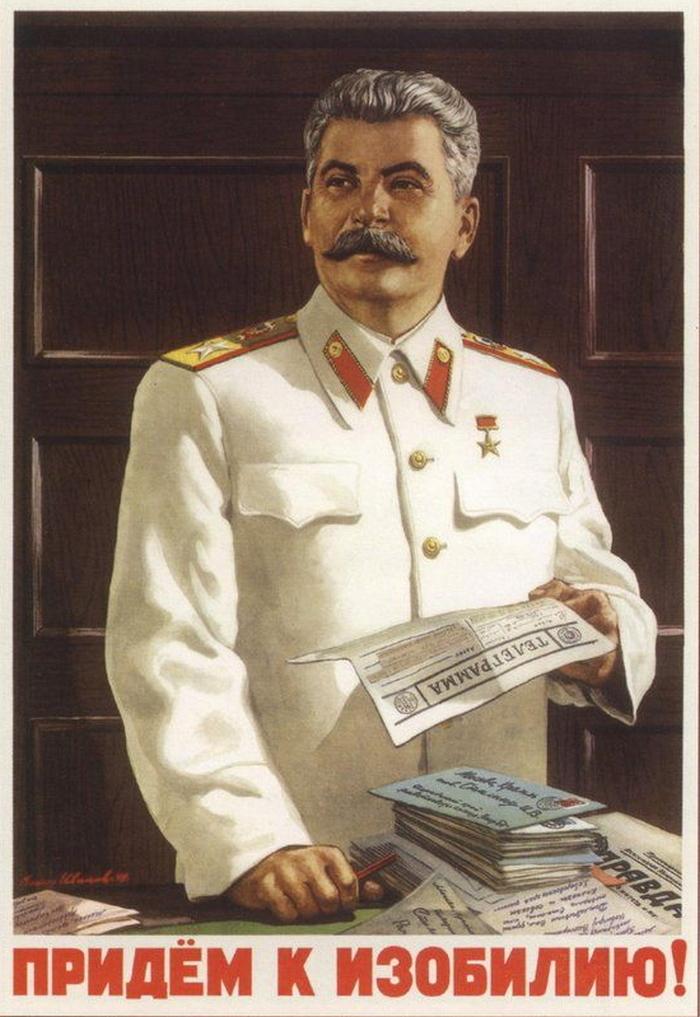 Generalissimus Stalin na plakacie propagandowym z 1949 roku.